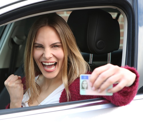 Freude über den Führerschein